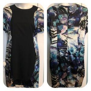 Abstract Print Colorblock Monif C Dress - 3X